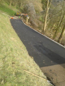 Design and build of a private access road